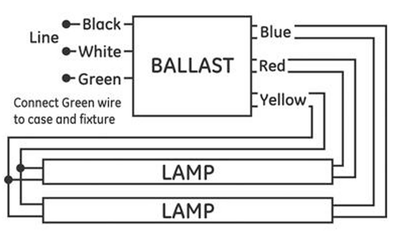 ge240 ps mv n (74472) ge multi volt proline™ electronic ballastge\\240 ps  mv n (74472) wiring  fluorescent ballast wiring diagram t12