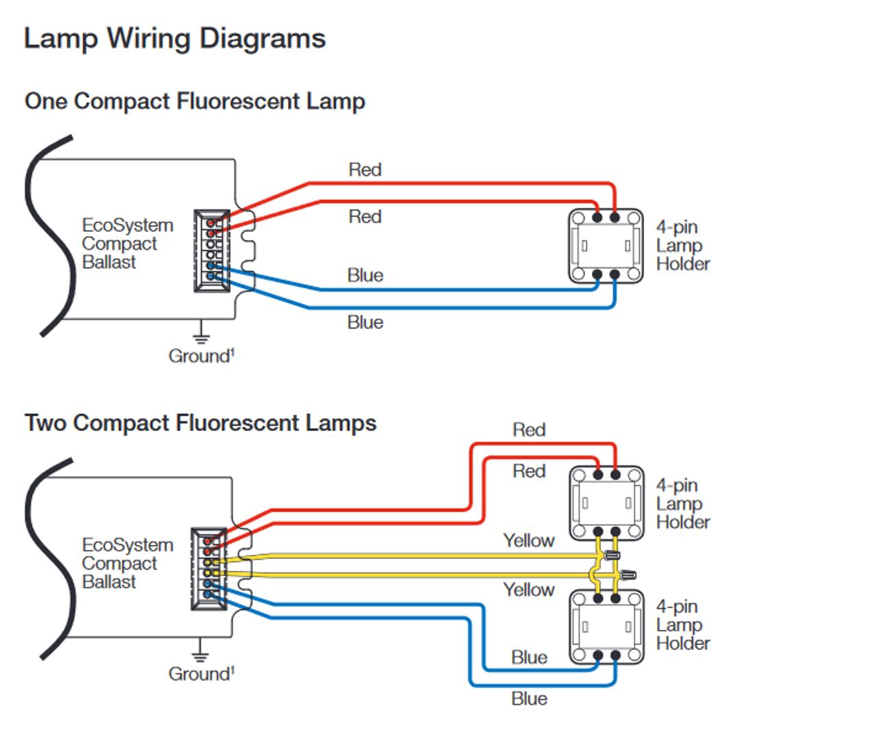 diagram for wiring 4 pin floursent wiring diagrams long