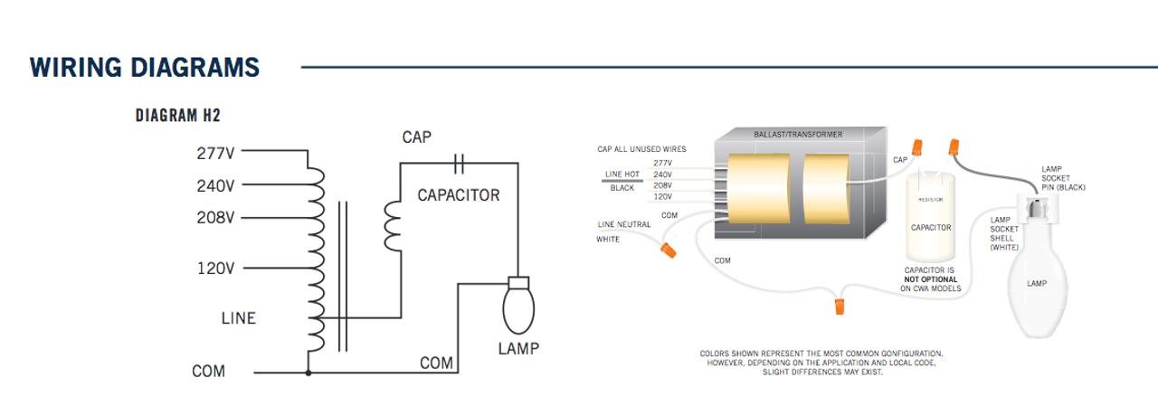150 Watt Metal Halide Ballast Wiring Diagram