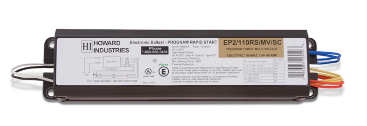 EP2//110RS//MV//SC Howard Lighting Replacement Fluroescent Ballast F96T12 HO