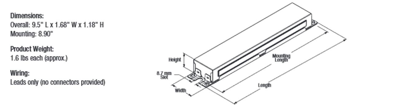 qtp4x32t8 unv isn sc b sylvania (49908 or 49947) fluorescent t8 ballast Philips Ballast Wiring Diagram wire diagram; qtp4x32t8 unv isn sc b sylvania 49908 dimensions