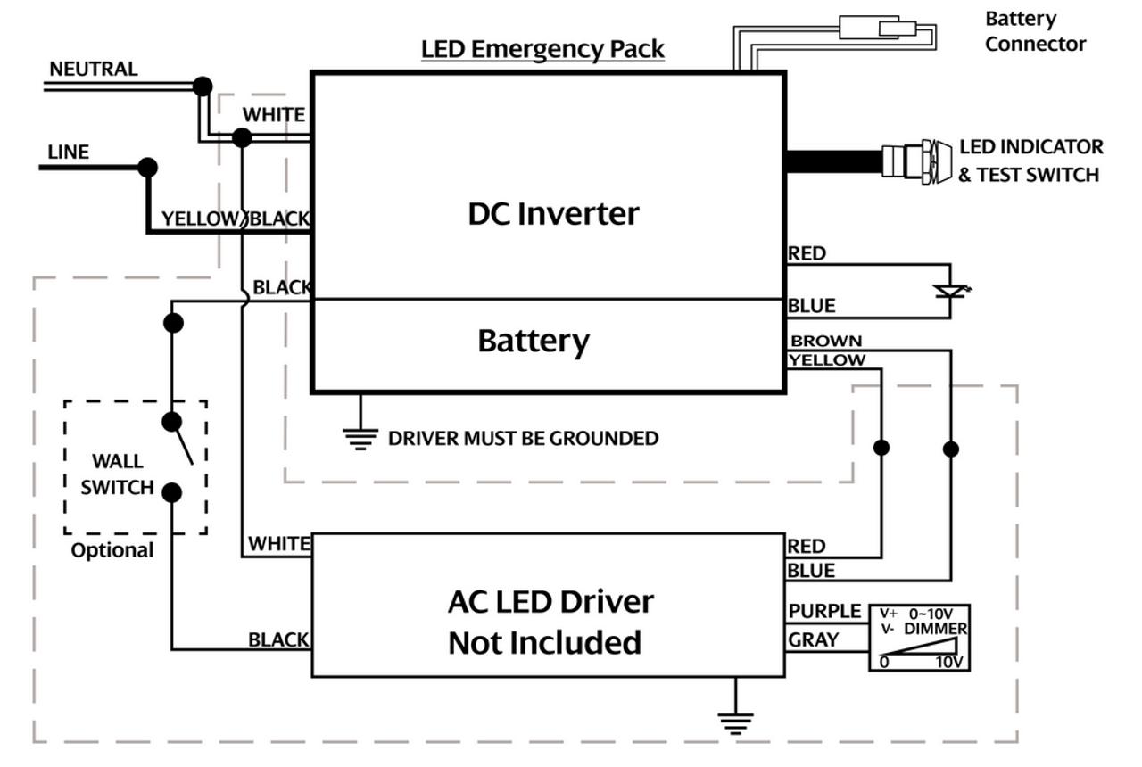 ACE-G10-55-190C Emergency Back-up LED Driver - 10W on
