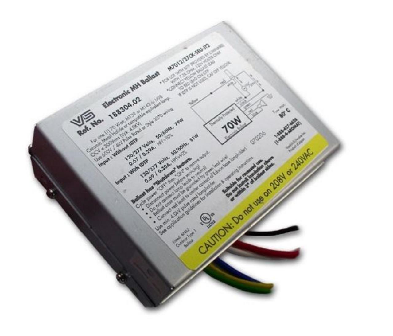 Universal M7012-27CK-5EU BALLAST Electronic 70 WATT Metal Halide 120//277 volt