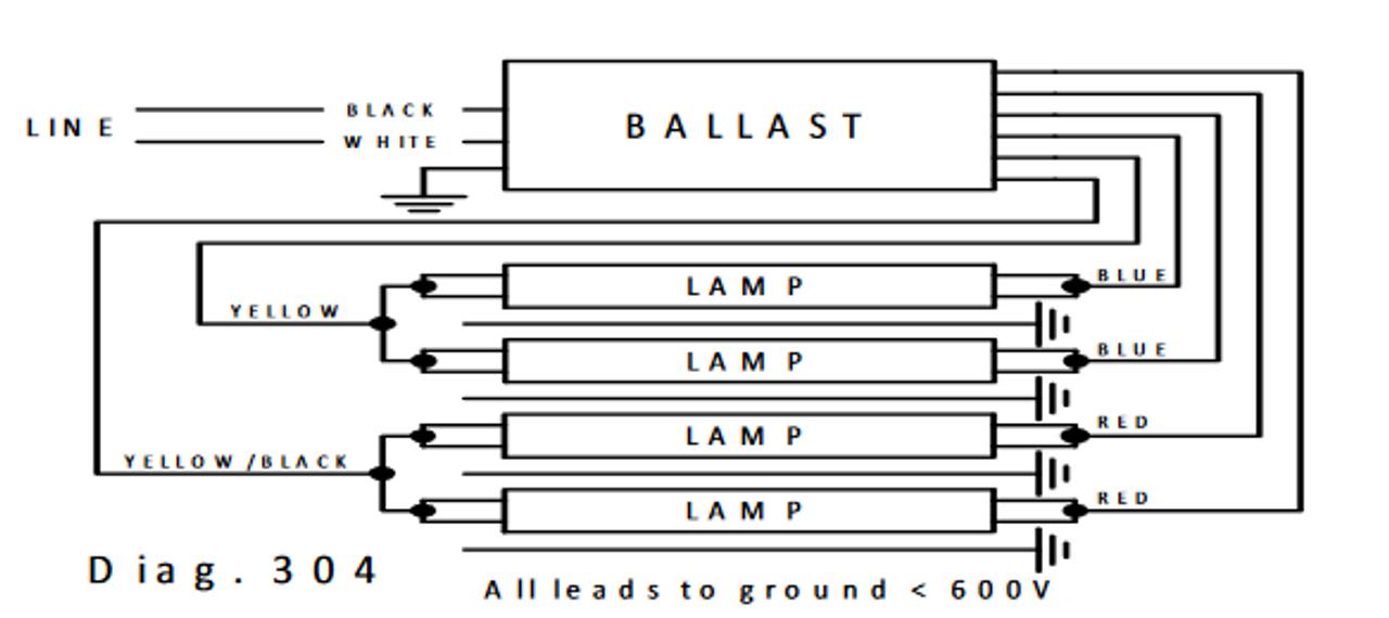 Advance Philips ISB-0432-14-E Sign Ballast   Advance Sign Ballast Wiring Diagram      BallastShop.com