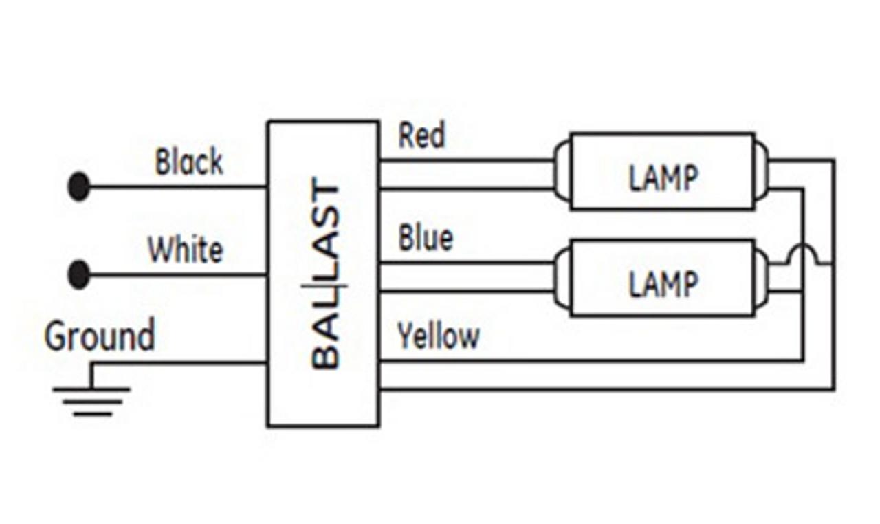 GE228MVPS-MC GE 68993 | UltraStart® T5 Electronic Ballast | Ge Dimming Ballast Wiring Diagram |  | BallastShop.com