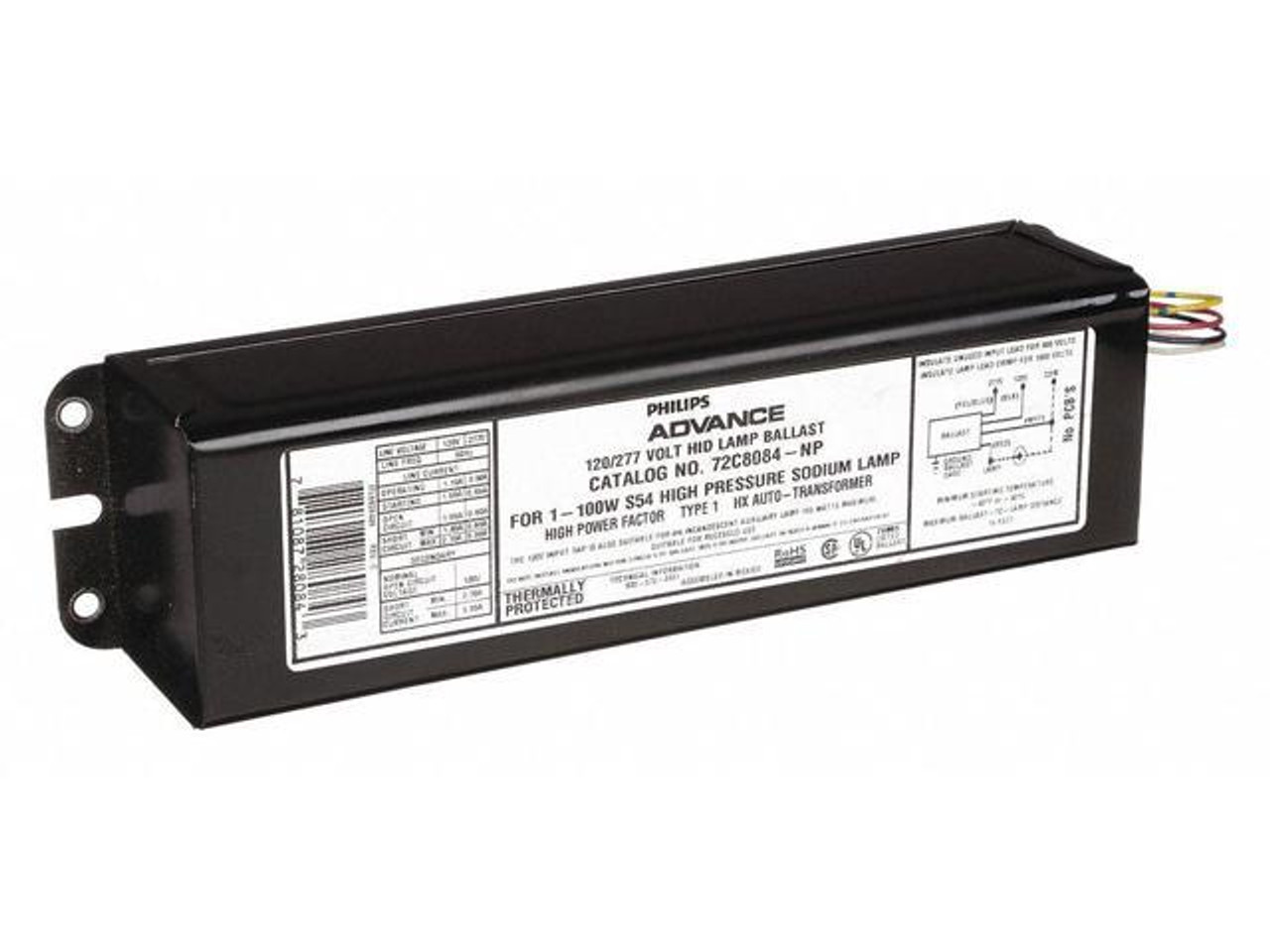 ADVANCE 71A5390-001D CORE /& BALLAST 1-100W M90 METAL HALIDE 120V//208V//240V//277V