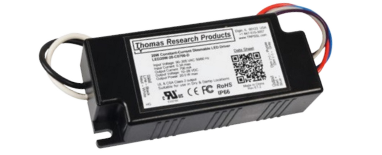 90-305VAC 25W Thomas Research Products LED Driver Model# LED25W-36-C0700