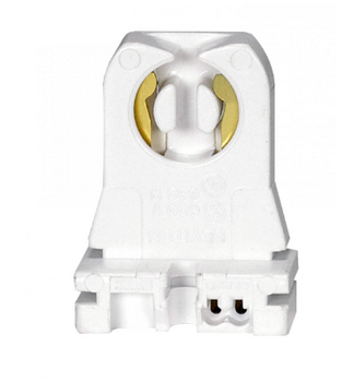80-1255 SATCO T8 Fluorescent Medium Bi-Pin Lampholder - Shunted