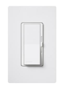 DVSTV-WH Lutron Diva 0-10V 120-277V White Dimmer with Wallplate