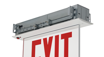 NYCELR-R Recessed Ceiling Mount Edge-lit Exit Sign