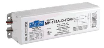 MH-175A-D-FCAN Keystone 175W F-can Metal Halide Ballast