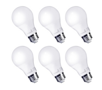 Hyperikon 9W Non-dimming LED A19 Bulb - 6 Pack