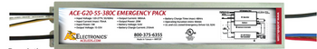 ACE-G20-55-380C AC Electronics Emergency Back-up LED Driver