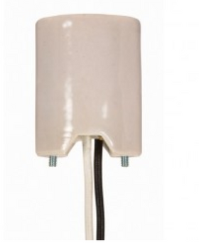 "80-1377 Satco E39 Mogul Base Porcelain Socket with 16"" Leads"
