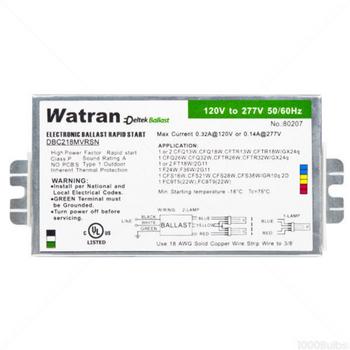 DBC218MVRSN Deltek-Watran 80207 Electronic Ballast