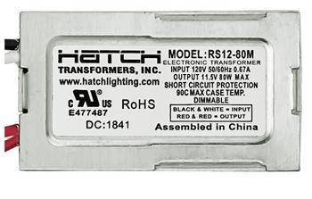 Hatch RS12-80 Transformer - 120V 12V 80W Dimming