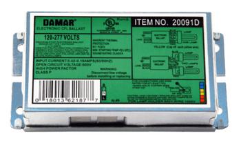 EL226CF-120-277HF Damar Compact Fluorescent Ballast