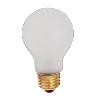S3927/S3930 Satco 60W Incandescent A19 Shatter-Proof Bulb - 2700K Warm White