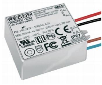 RACD07-250 RECOM Power LED Driver