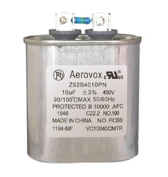 Z92S4010MN/1184-MF Aerovox Metal Capacitor - 400V 175W 10.0 UF