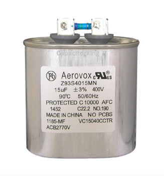 Z93S4015MN/1185-MF Aerovox Metal Capacitor - 400V 250W 15.0 UF