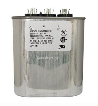 Z94S4824W02A3 Aerovox Metal Capacitor - 480V 1000W 15UF & 9UF