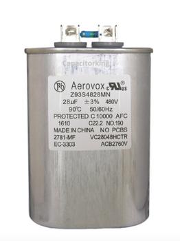 Z93S4828MN Aerovox Metal Capacitor - 480V 750W 28UF