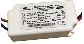 M9-U12-0750 Magtech Constant Current LED Driver - Dimming  9W 750mA