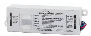 KTLD-15-UV-PS350-42-VDIM-LP1 Keystone Adjustable LED Driver - 15W 260-350mA