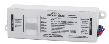 KTLD-15-UV-PS300-54-VDIM-LP1 Keystone Adjustable LED Driver - 15W 200-300mA Dimmable