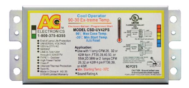 CSD-UV42PS AC Electronics Ballast