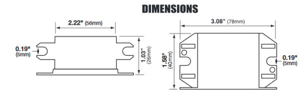 Inter-Global IG13-20EL Dimensions