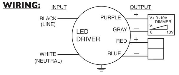 60W Constant Voltage LED Driver AC Electronics