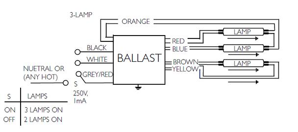 4 lamp t5ho wiring diagram centium ballasts  boat starter