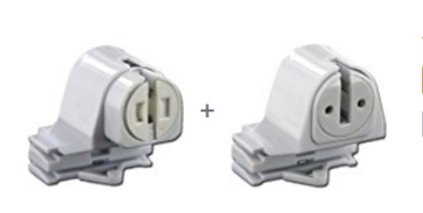 T8 to T5 Conversion Socket - Pair
