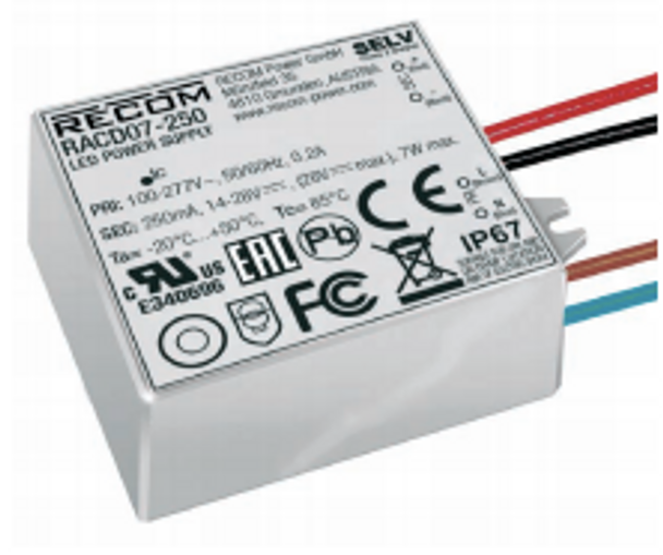 RACD07-250 RECOM Power LED Driver