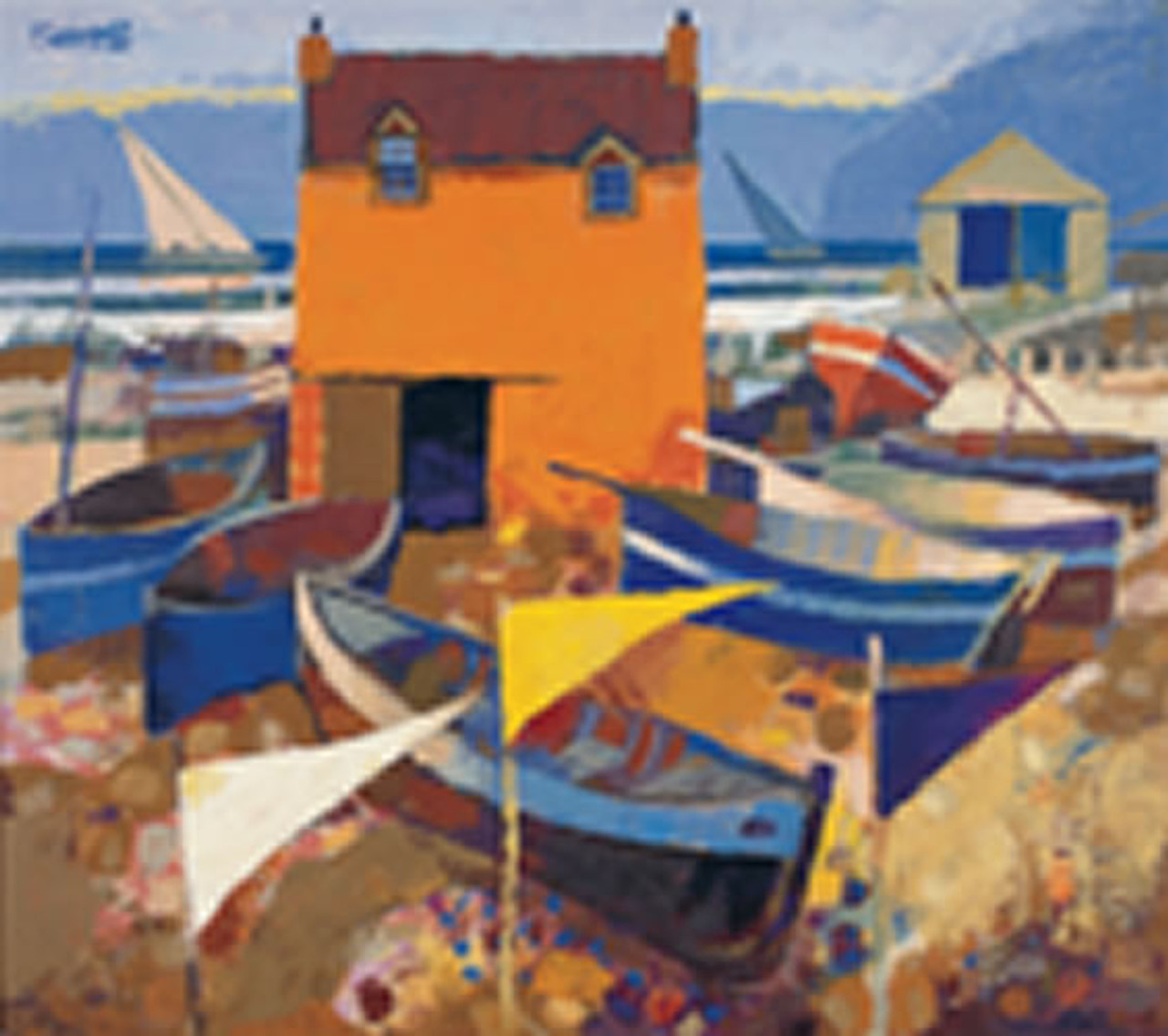 Boats and Marker Flags (Limited Edition) by George Birrell