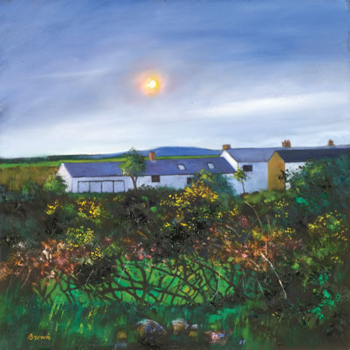 Cornish Cottages by Davy Brown