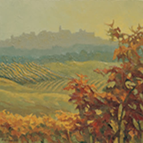 Piemont, Autumn in Diano d'Alba by Alan Cotton