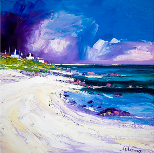 Rain Squall, Balemartine, Isle of Tiree by John Lowrie Morrison