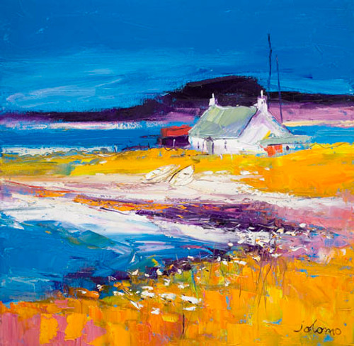 Beached Boats, Isle of Harris by John Lowrie Morrison