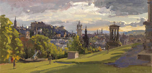 Early May Evening from Calton Hill by Peter Brown
