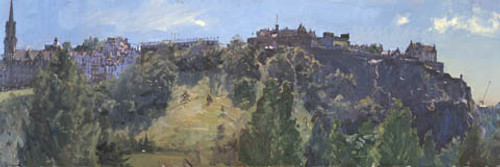 Hot June Day, the Castle from the New Club by Peter Brown
