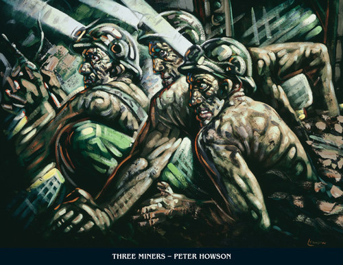 Three Miners by Peter Howson OBE
