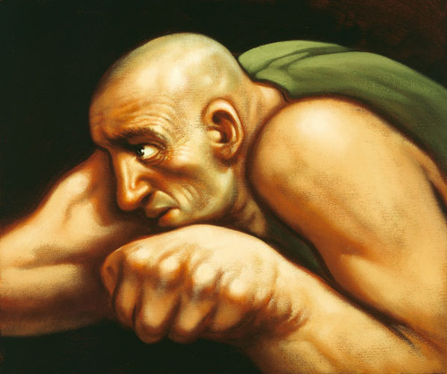 Boxer II by Peter Howson OBE
