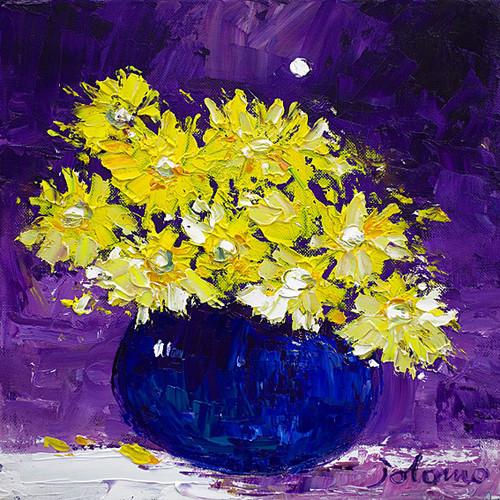 Yellow Daisies Under The Moon by John Lowrie Morrison