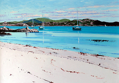 Summer Mooring Iona by Frank Colclough