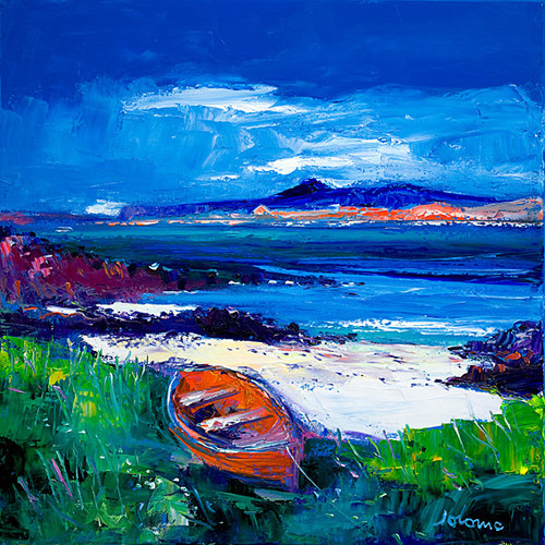 Iona And Ben More Mull by John Lowrie Morrison