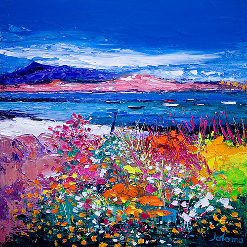 Front Gardens And The Moorings Iona by John Lowrie Morrison