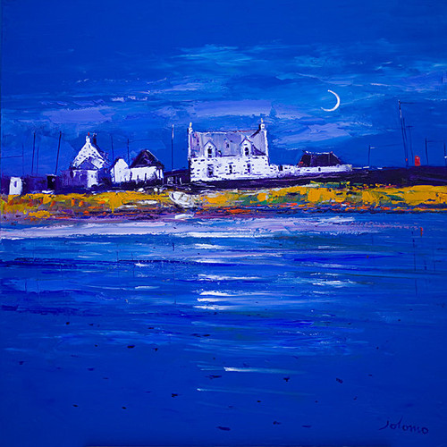 New Moon Isle Of Tiree by John Lowrie Morrison